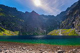 pure picturesque lake of Cherny Staw in high Tatras, Poland