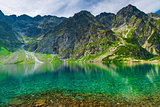 background - scenic landscape of a mountain and a lake in the Ta
