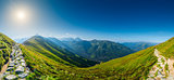 Panorama - view of Kasprowy Wierch, Tatra Mountains in Poland