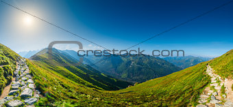 Panorama - view of Kasprowy Wierch, Tatra Mountains in Poland