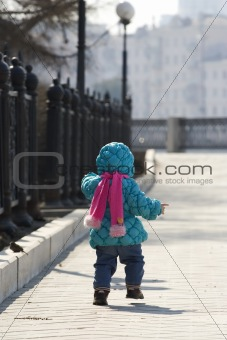 Baby in a park