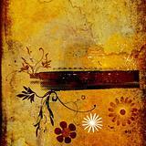 floral grunge design