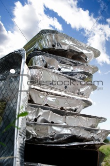 Tinfoil Disposable BBQ Garbage