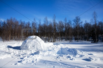 Igloo winter landscape