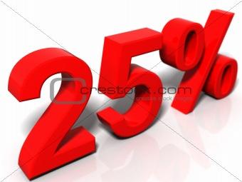25 percentage
