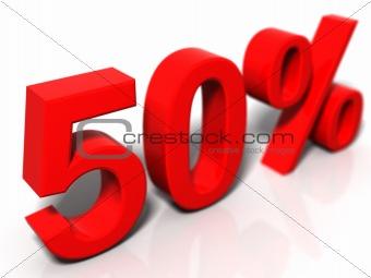 50 percentage