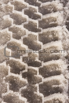 Tire Tread In Snow And Ice