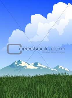 Prairie and Mountain Landscape