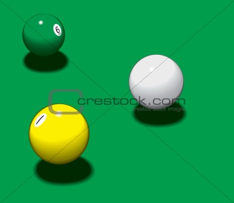 Three pool balls