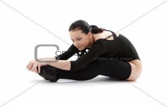 fitness in black leotard #2