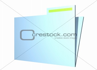 Folder Plain and Simple Clip Art Isolated