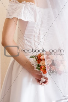 Bridal bunch and lace