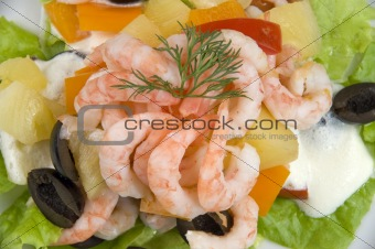 Prawn salad.