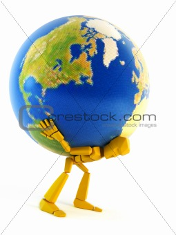man carrying the Earth