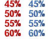 percentage signs
