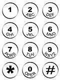 phone number key pad