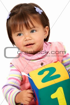 preschool girl smiling