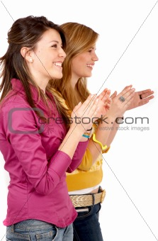 girls clapping