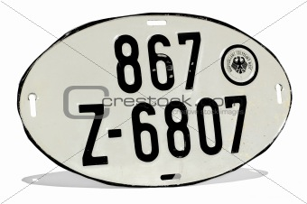 Old Stuttgart Numberplate