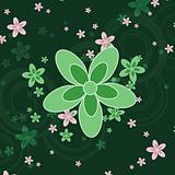 Green Flower Background