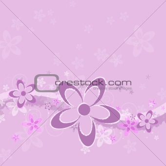 Lavender Grunge Flower Background