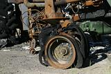 Burned Tractor Detail