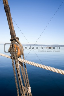 Boat Pulley Abstract