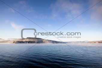Winter Fjord Landscape