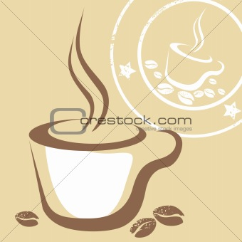Coffee Cup and Stamp