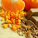 Chocolate flakes and Orange