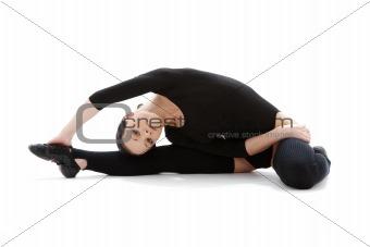 fitness in black leotard #3