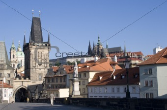 prague - cathedral and gothic tower