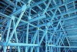 blue scaffold 