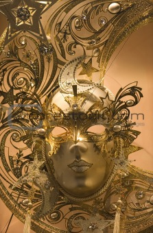 masks from venice - gold moon