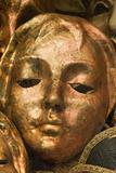 masks from venice - gold face