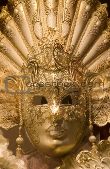 mask from venice - gold luxury