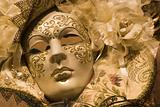 white and gold masque for Carnival