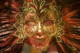 mask from venice - red