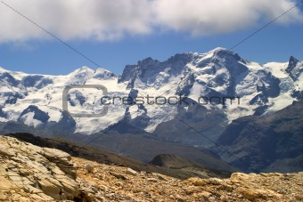 breithorn peak - switzerland