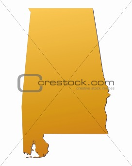 Alabama (USA) map