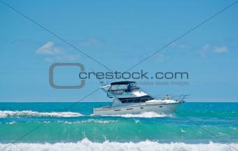 cruising in a boat