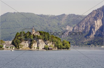 chapel over traunsee - austria