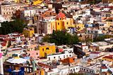 Balcony Colored Houses and Church Guanajuato Mexico