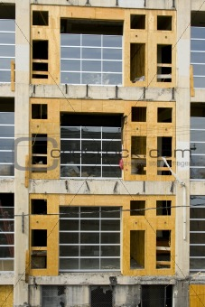 Close up on a Building under Construction