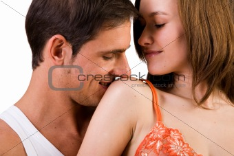 Kiss the shoulder
