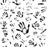 Seamless hands pattern