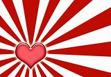 Corazon Love Sunburst Background