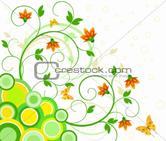 Floral  artistic vector design  background