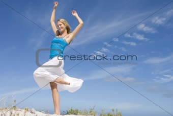 Young Woman on sand dune