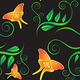Seamless summer night pattern